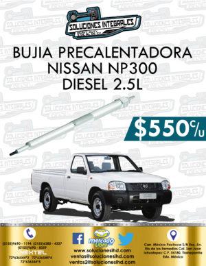 BUJÍA PRECALENTADORA NISSAN NP300 2.5L DIESEL