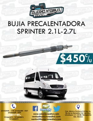 BUJÍA PRECALENTADORA SPRINTER 2.1L – 2.7L