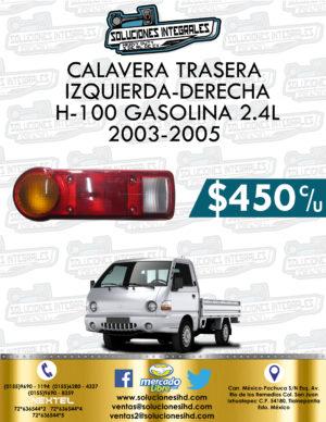 CALAVERA DER. O IZQ. H-100 GASOLINA 2.4L