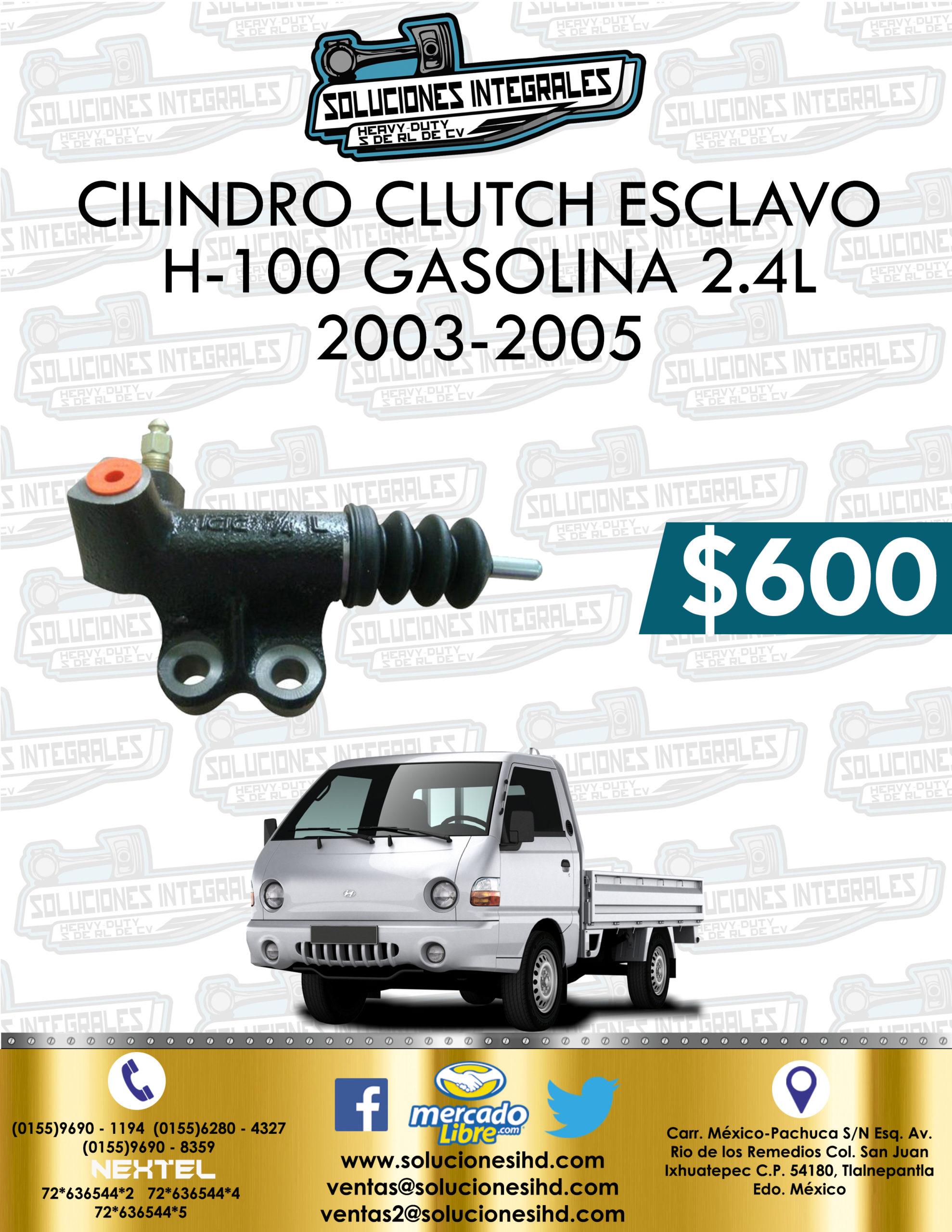 CILINDRO CLUTCH ESCLAVO H-100 GASOLINA 2.4L