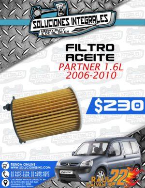 FILTRO ACEITE PARTNER 1.6L 2006-2010