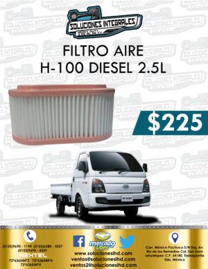 FILTRO AIRE H-100 DIESEL 2.5L