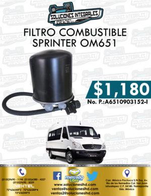 FILTRO COMBUSTIBLE SPRINTER OM651