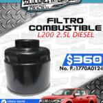 FILTRO COMBUSTIBLE L200 2.5L DIESEL
