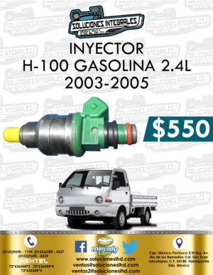INYECTOR H-100 GASOLINA 2.4L