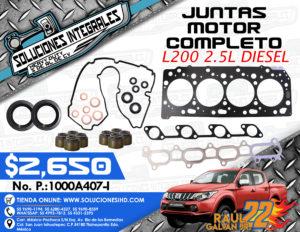 JUNTAS MOTOR COMPLETO L200 2.5L DIESEL