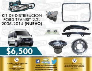 KIT DISTRIBUCIÓN FORD TRANSIT 2.2L 2006-2014
