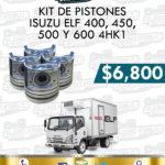 KIT PISTONES ISUZU ELF 400, 450, 500 Y 600