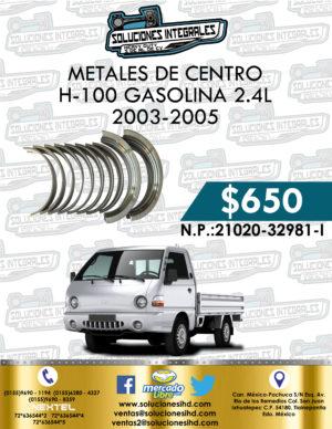 METALES CENTRO H-100 GASOLINA 2.4L