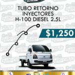 TUBO RETORNO INYECTORES H100 DIESEL 2.5L
