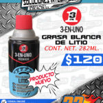 3-EN-UNO GRASA BLANCA DE LITIO 282 ML.