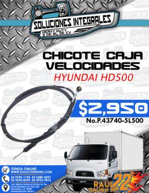 CHICOTE CAJA VELOCIDADES HYUNDAI HD500