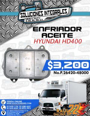 ENFRIADOR ACEITE HYUNDAI HD400