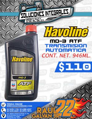 HAVOLINE ACEITE PARA TRANSMISIÓN AUTOMÁTICA MD3 ATF 946 ML.