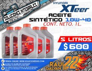 ACEITE SINTÉTICO HYUNDAI XTEER 5L. 10W-40