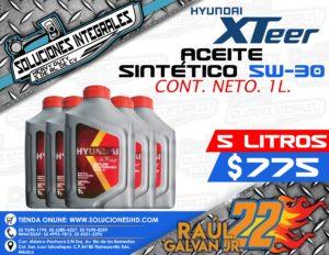 ACEITE SINTÉTICO HYUNDAI XTEER 5L. 5W-30