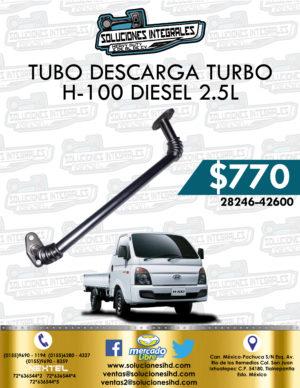 TUBO DESCARGA TURBO H-100 DIESEL 2.5L