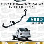 TUBO ENFRIAMIENTO BANYO H-100 DIESEL 2.5L