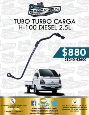 TUBO TURBO CARGA H-100 DIESEL 2.5L