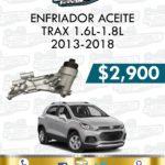 ENFRIADOR ACEITE TRAX 1.6L-1.8L 2013-2018