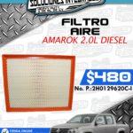 FILTRO AIRE AMAROK 2.0L DIESEL