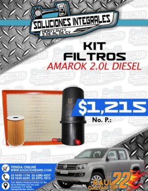 KIT FILTROS AMAROK 2.0L DIESEL