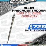BUJÍA PRECALENTADORA L200 2.5L DIESEL 2008-2019