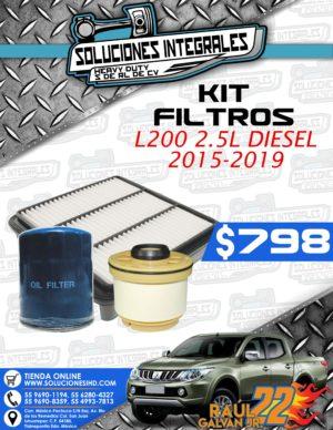 KIT FILTROS L200 2.5L DIESEL 2015-2019