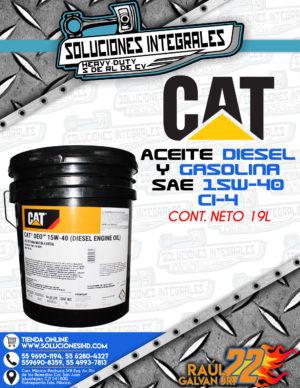 CAT ACEITE DIESEL Y GASOLINA CUBETA SAE 15W40 CI4