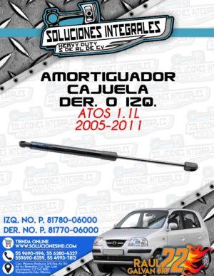 AMORTIGUADOR CAJUELA DER. O IZQ. ATOS 1.1L 2005-2011