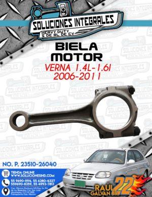 BIELA MOTOR VERNA 1.4L-1.6L 2006-2011