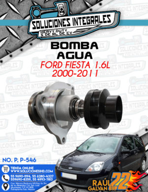 BOMBA AGUA FORD FIESTA 1.6L 2000-2011