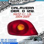 CALAVERA DER. O IZQ. MATIZ G1 1.0L 2004-2009