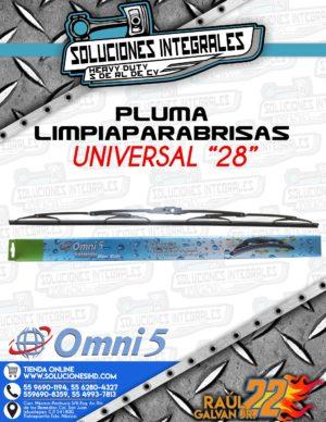 OMNI5 PREMIUM PLUMA LIMPIAPARABRISAS 28 PULGADAS
