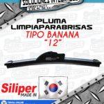 SILIPER PLUMA LIMPIAPARABRISAS TIPO BANANA 12 PULGADAS