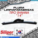 SILIPER PLUMA LIMPIAPARABRISAS TIPO BANANA 14 PULGADAS
