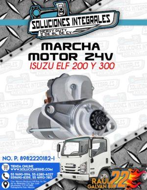 MARCHA MOTOR 24V ISUZU ELF 200 Y 300