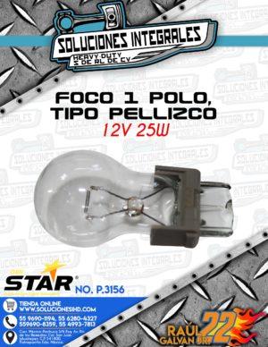 QBH STAR FOCO 1 POLO TIPO PELLIZCO 12V 25W