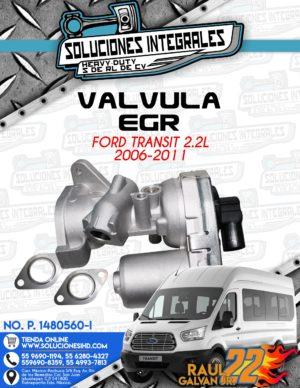 VALVULA EGR FORD TRANSIT 2.2L 2006-2011