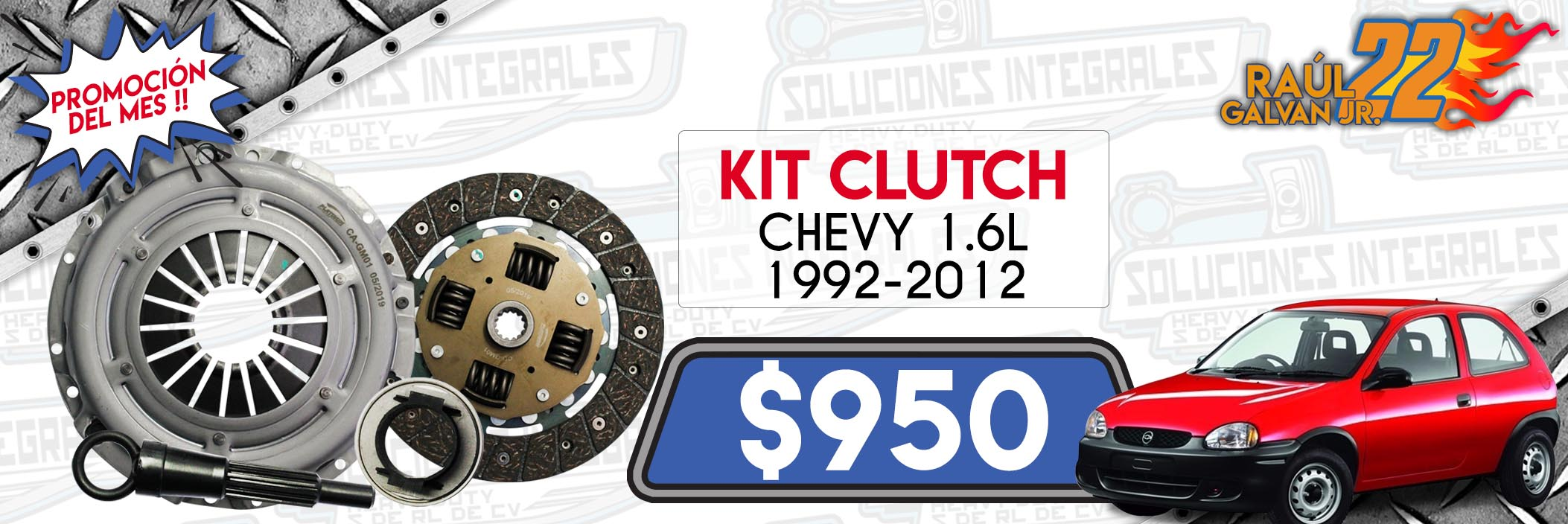 kit clutch chevy 1.6l 1992-2012