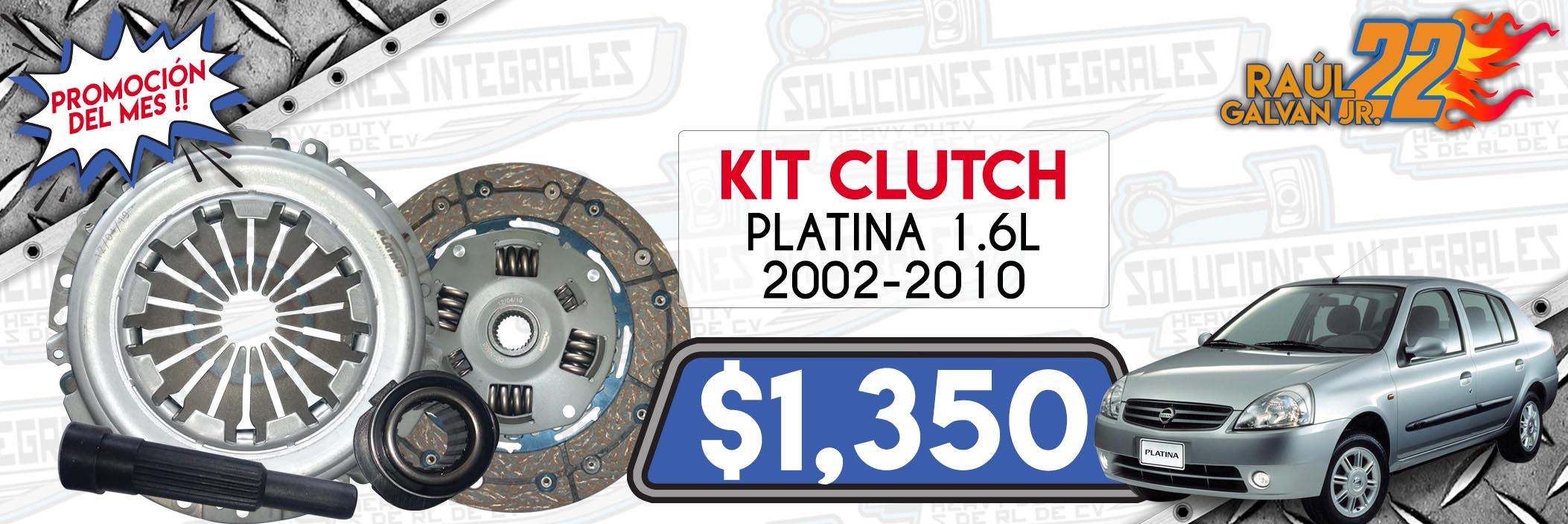 kit clutch platina 1.6l 2002-2010