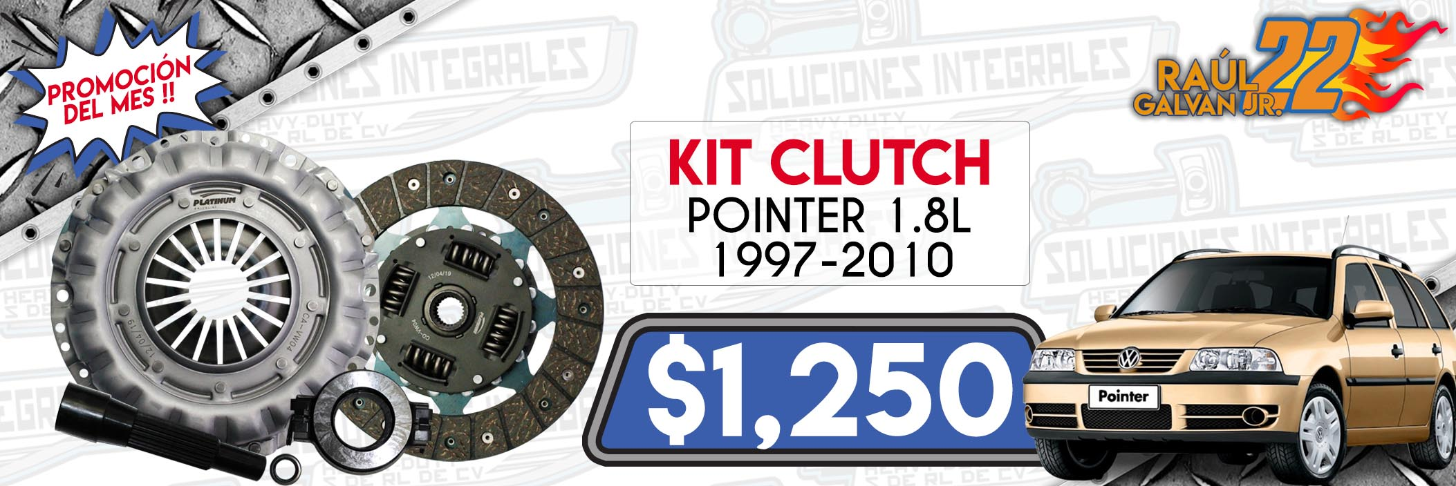 kit clutch pointer 1.8L 1997-2010