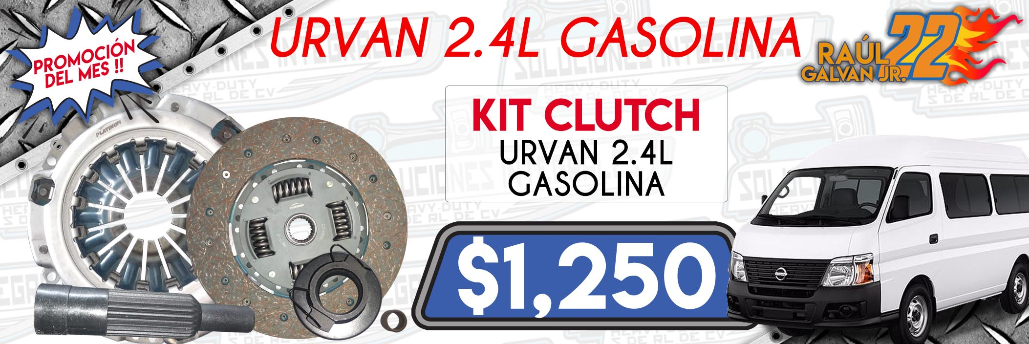 kit clutch urvan 2.4l gasolina