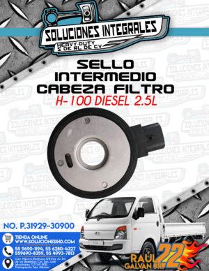 SELLO INTERMEDIO CABEZA FILTRO H100 DIESEL 2.5L