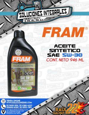 FRAM ACEITE SINTÉTICO SAE 5W-30