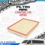 FILTRO AIRE CRAFTER 2.0L DIESEL