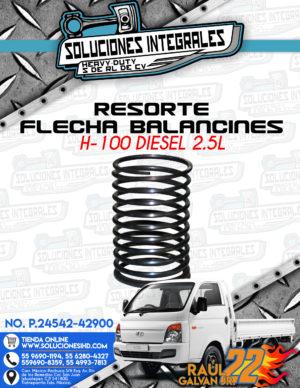 RESORTE FLECHA BALANCINES H100 DIESEL 2.5L