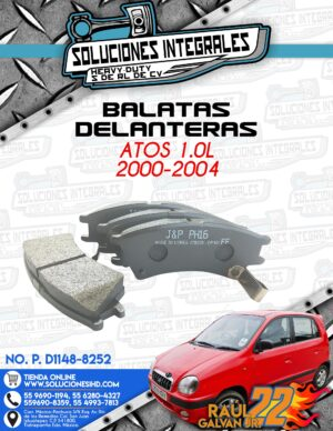 BALATAS DELANTERAS ATOS 1.0L