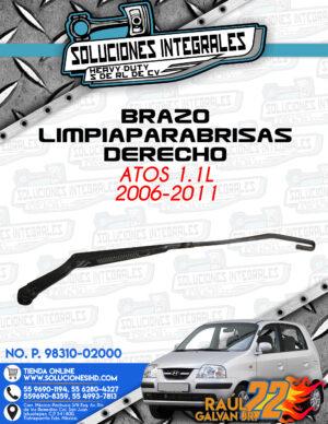 BRAZO LIMPIAPARABRISAS DERECHO ATOS 1.1L