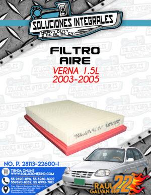 FILTRO AIRE VERNA 1.5L 2003-2005